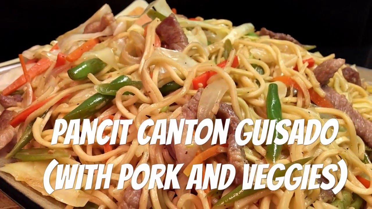how to cook pancit canton guisado