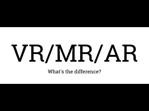 VR MR AR - What's the difference? (Virtual Reality, Mixed Reality, Augmented Reality)