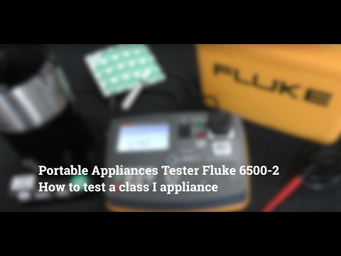 How To Test A Class I Appliance Fluke 6500-2 PAT Tester