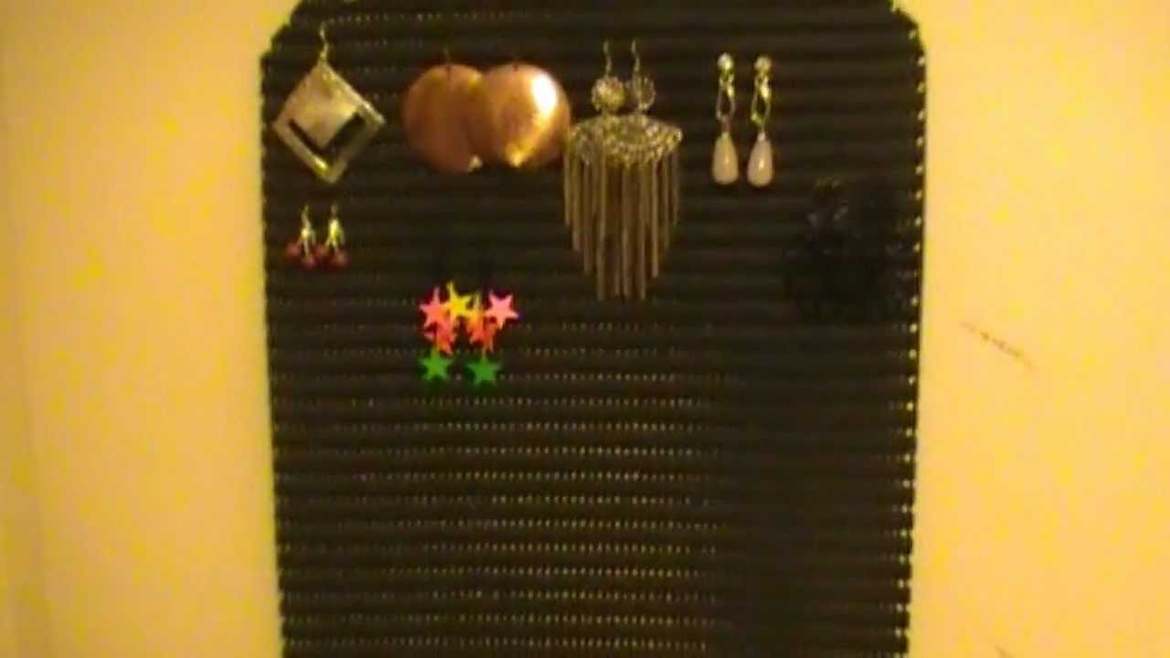 mon rangement a boucles d 39 oreilles youtube. Black Bedroom Furniture Sets. Home Design Ideas