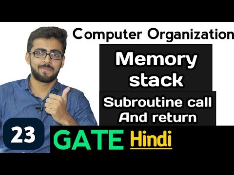 Memory Stack Subroutine Call and return  in Computer Organization | Computer Organization GATE
