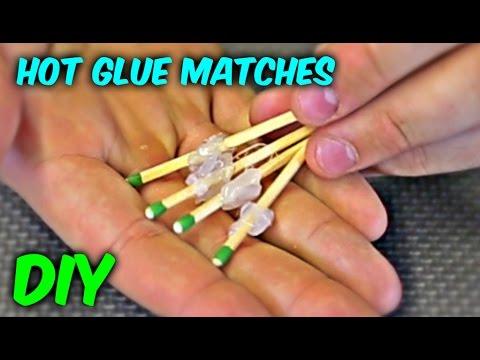 DIY Hot Glue Matches
