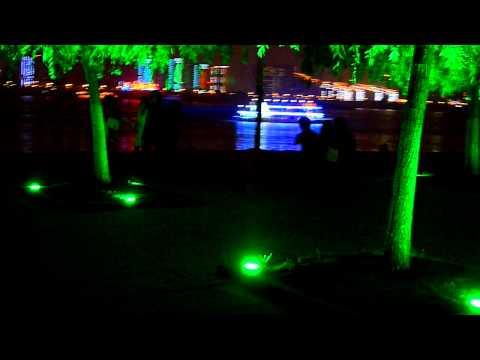 Dancing people at night Hubei,WuhanYangtze River china