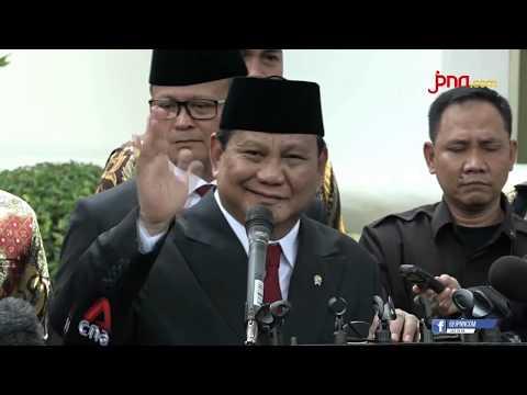 Pak Prabowo Sudah Resmi Jadi Menhan, tetapi Mau Belajar Dahulu