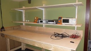 Diy Lab Bench With Shelves Pt1 The Bench