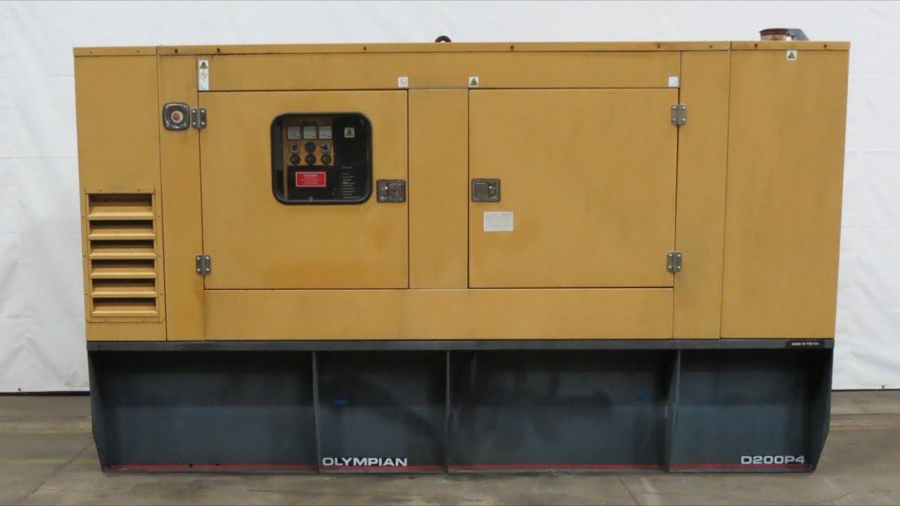 Caterpillar Olympian D200P4, 200 kW sel generator, 438 Hrs, '04 - CSDG on