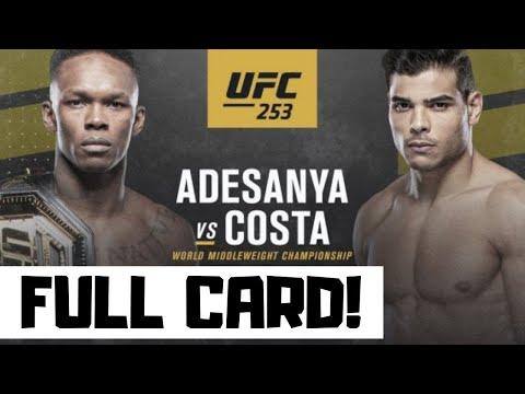 UFC 253 Predictions Adesanya Vs Costa Full Card Betting Breakdown