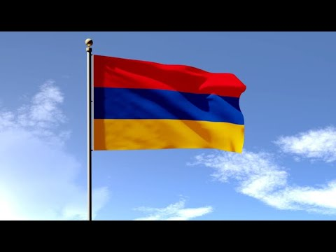 Флаг Армении большого размера 150×90см армянский флаг