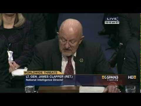"DNI James Clapper Calls NSA Journalists Snowden's ""Accomplices"""