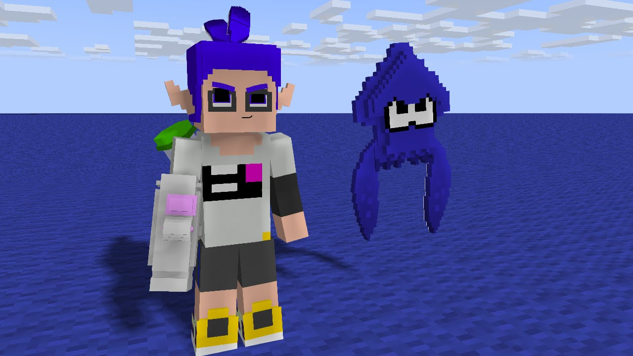 Splatoon Dans Minecraft Episode 1 Youtube