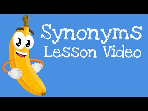 Synonyms | First Grade Language Arts Learning Lesson Videos