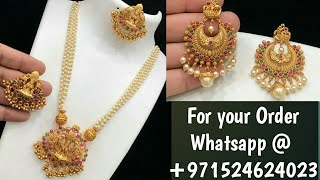 BEAUTIFUL PEARL NECK SETS & EARRINGS || For your Order WhatsApp @ +971524624023