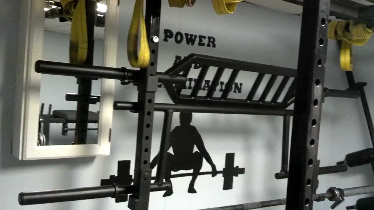 New home gym basement setup - YouTube