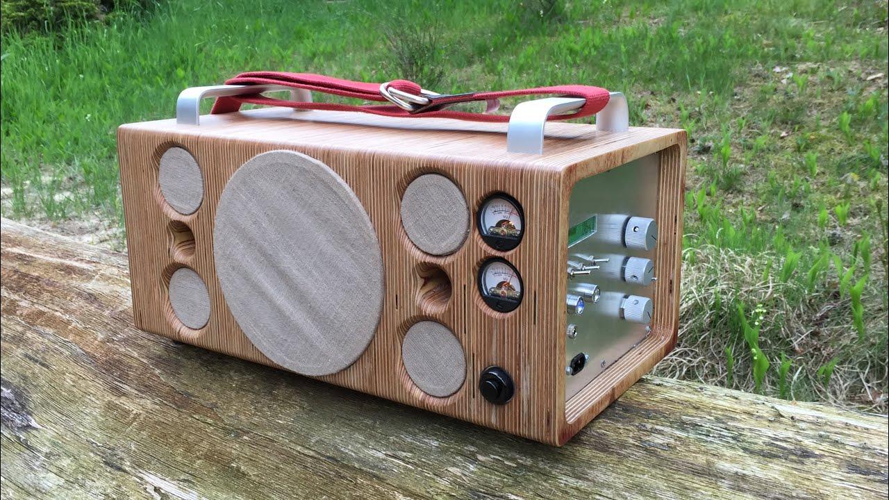 homemade portable bluetooth speaker boombox youtube