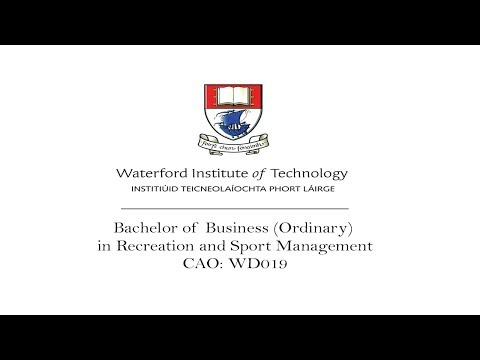 BBS in Recreation & Sport Management (WIT) Course Video 2017