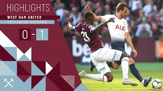 Download Video HIGHLIGHTS | WEST HAM UNITED 0 - 1 TOTTENHAM HOTSPUR MP3 3GP MP4