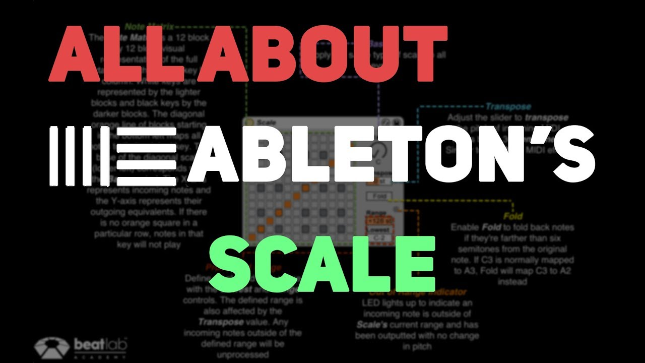All About Ableton's Scale MIDI Effect