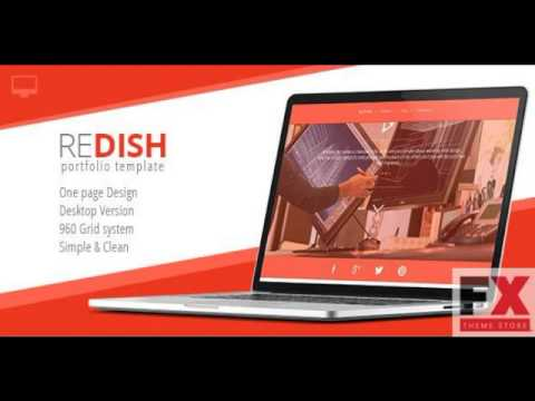 Preview Redish - Portfolio and Bio Template TForest