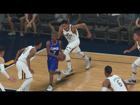 NBA 2K18 My Career #54 Clippers vs Jazz. Clutch Play