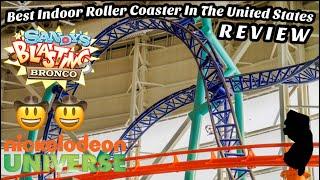 Sandy's Blasting Bronco Review Intamin Launch Coaster Nickelodeon Universe (2021)