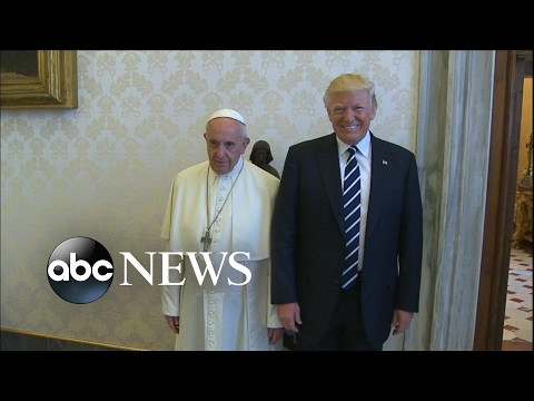 President Trump meets with Pope Francis at the Vatican