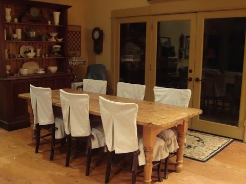 Slipcovers For Dining Room Chairs - YouTube