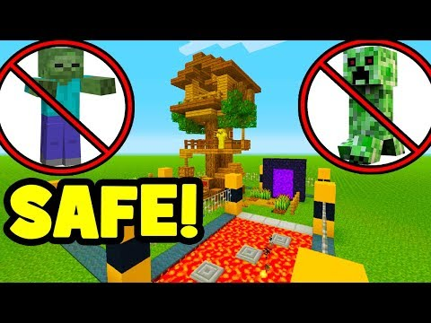 Minecraft Tutorial: How To Make A Mob Proof Tree house