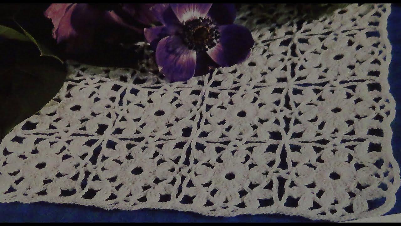 Como tejer tapete cuadrado a crochet - YouTube