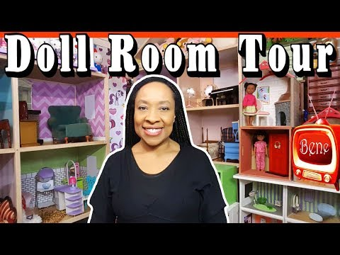 DOLL ROOM TOUR: American Girl and BJD  DOLLHOUSE  Year End Review