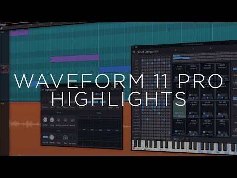 Tracktion Waveform Pro 11 Highlights