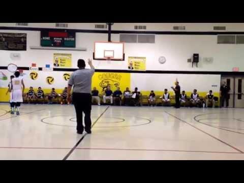 Coach Rick's 1st basketball game this season! Salvador Garcia Middle School 8th grade team!