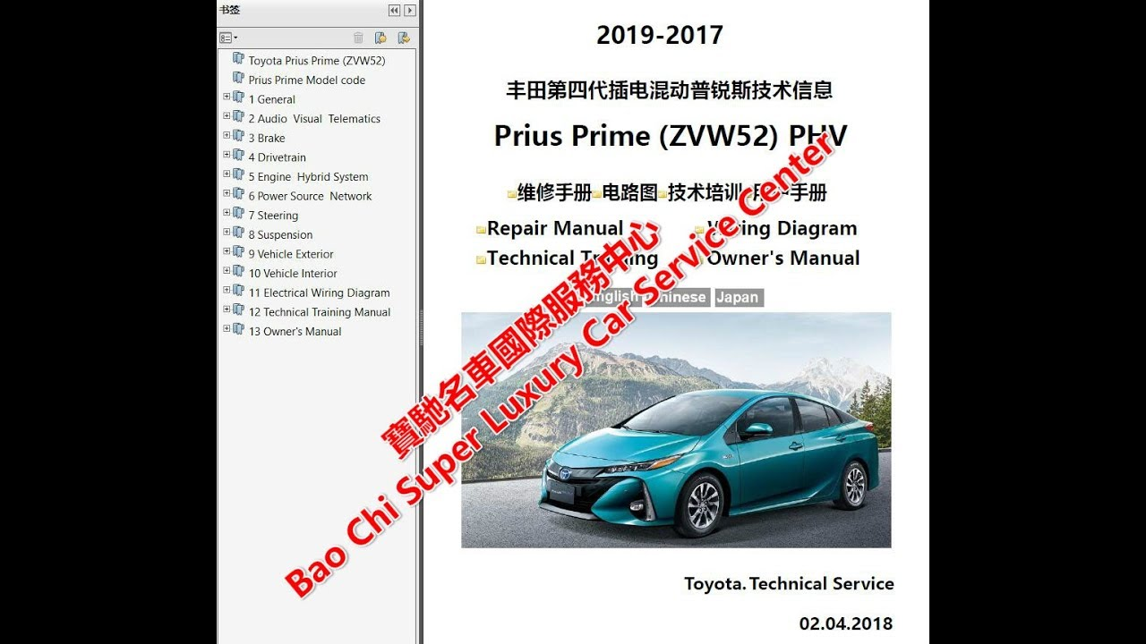 2019 2016 toyota prius prime priusv priusc workshop repair manuals wiring diagrams owners manual [ 1280 x 720 Pixel ]