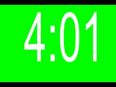 A 10 Minute Countdown Clock On A Green Screen - YouTube