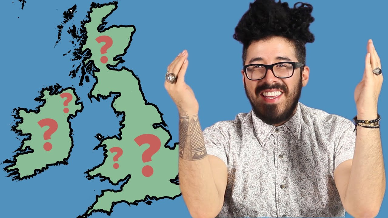 Americans Try To Label The British Isles YouTube - Brits label us map 2015