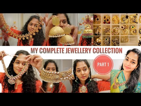 My Complete Jewelry Collection from INDIA to USA | Gold Silver One Gram| Bridal & Festive| Bloopers