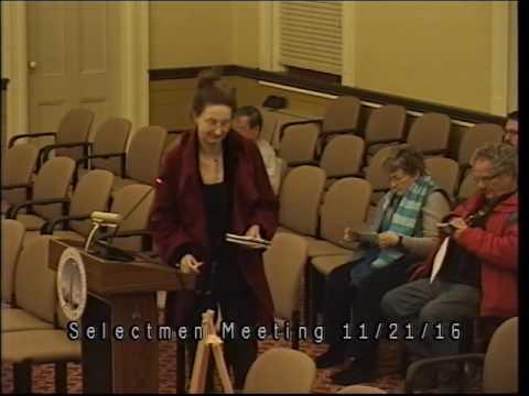 Selectemen Meeting 11/21/16