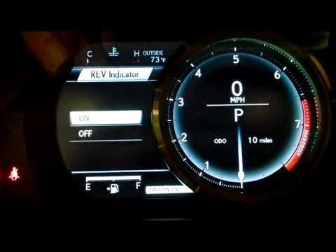 Lexus IS350 FSport - LFA inspired speedometer