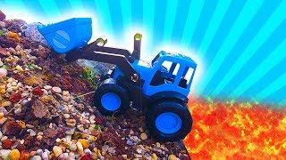 Машинки для мальчиков - Экскаватор и Синий Трактор-  Видео для детей 2019