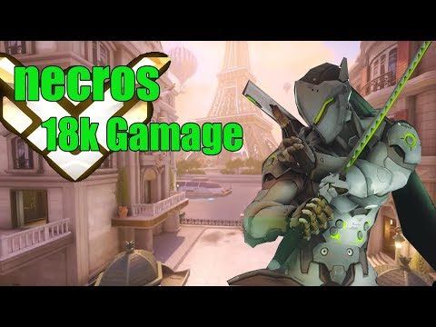 Genji Gameplay - Necros Amazing Genji  POTG - Pro Overwatch Season 15 thumbnail
