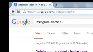 Instagram Account löschen 2017 Tutorial [German] [HD]