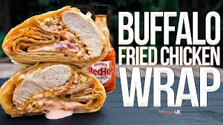 Buffalo Fried Chicken Wrap | SAM THE COOKING GUY 4K
