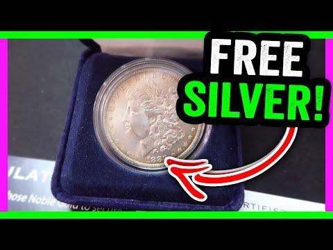 FREE SILVER MORGAN DOLLAR COIN!!