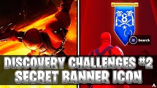 SECRET BANNER ICON! Week 2 Discovery Challenges (Fortnite Season 8)
