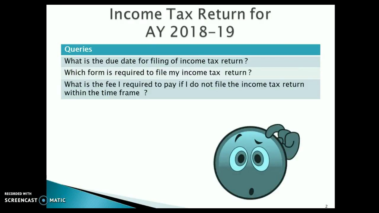 Income Tax Return Due Dates, ITR Forms and Fee for Delay in Filing ...