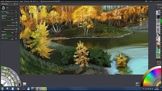 Цифровая живопись в ArtRage  Золотая осень