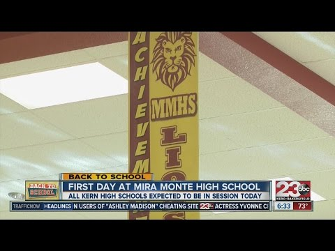 Students at Mira Monte go back to school