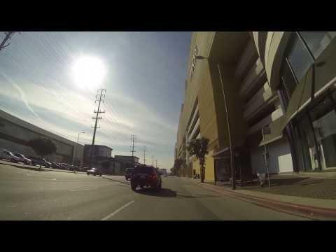 Vespa ride to work in Los Angeles California