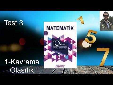 Karekök Yayınları, 10. Sınıf Matematik, Ünite 1, Kavrama Test-3 | Olasılık