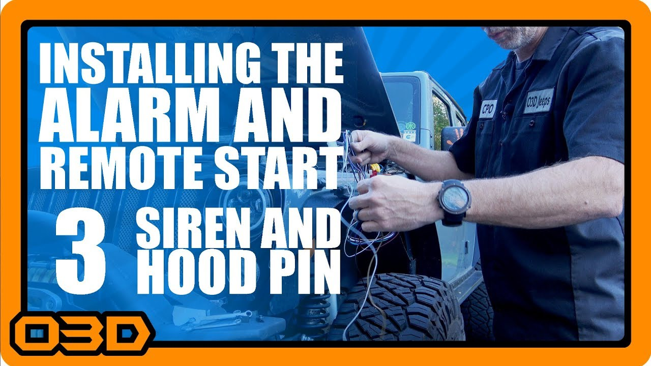 03 - Alarm and Remote Start Install - Hood Pin Switch and Siren - Omega Xpress Remote Start Wiring Diagram on