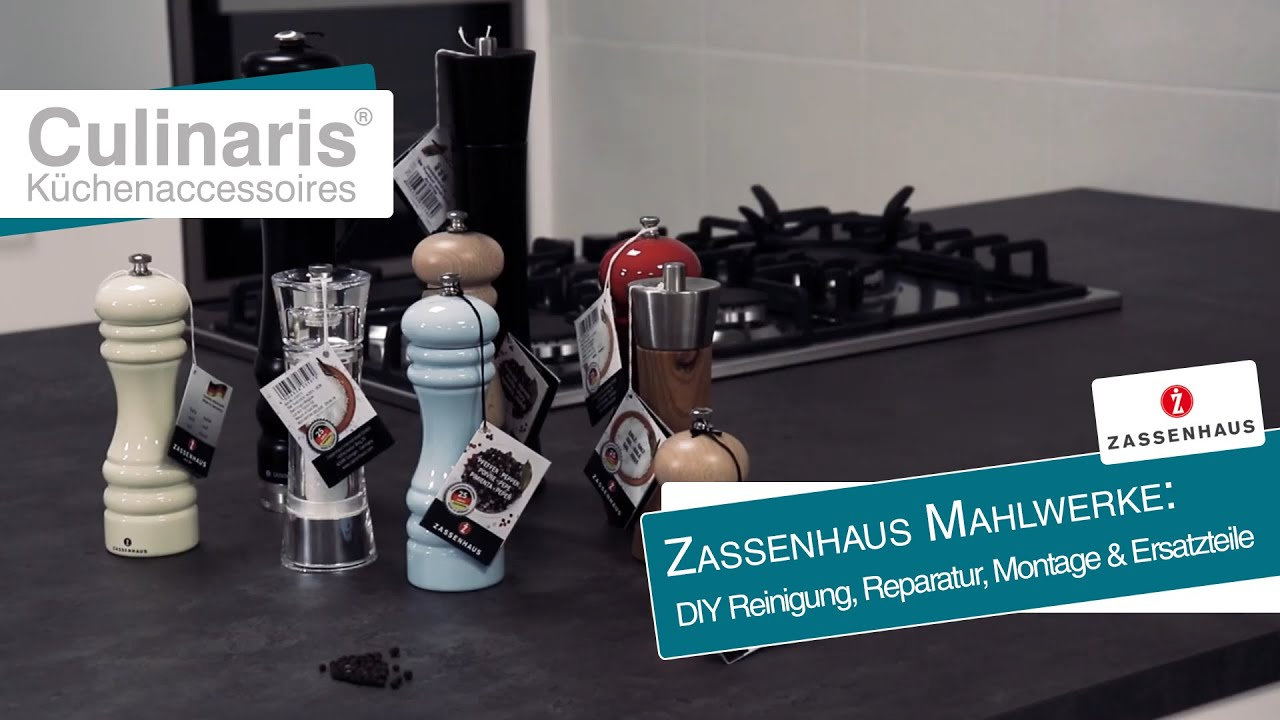 Küchenaccessoires Online Shop Zassenhaus - Pepper And Salt Mill \